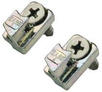 Kit de fixation pour gâche menuiserie métallique
