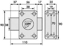 Verrou City 25 Numéro stock 5503