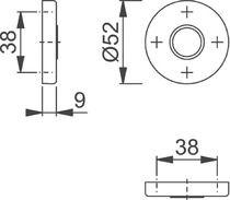 Rosace pour béquille Finition noir mat coloris F9714M