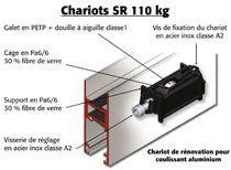 Chariot de rénovation coulissant aluminium Chariot simple DS4534