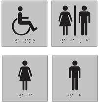 Plaquette signalétique braille et picto relief