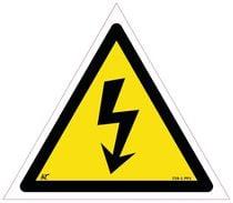 Panneau avertissement danger fond jaune et lettres noires À coller