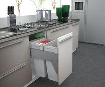 Poubelle coulissante suspendue 70 litres Pour meuble de 450 mm