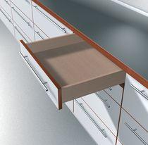 Coulisse invisible pour tiroir bois sortie partielle charge 30 kg sans amortisseur BLUMOTION