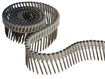 Pointe en rouleau 16° annelée reliée bande plastique