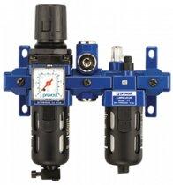 Filtre régulateur lubrificateur avec manomètre et sortie air sec