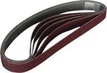 Bande abrasive pour ponceuse à bande pneumatique Largeur 10 mm / longueur 330 mm