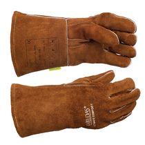 Gant MIG cuir marron pouce renforcé