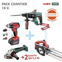 Pack chantier 4 outils 18 V