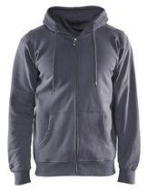 Sweat zippé à capuche 3366 gris acier