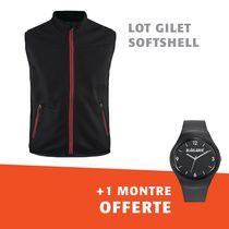 Lot 1 gilet softshell 3850 + 1 montre offerte
