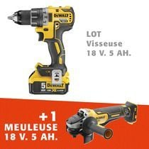 Lot visseuse + meuleuse 125 mm 18 V 5 Ah