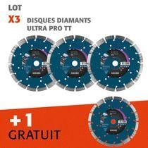 Lot disques diamants Ultra TT 3 + 1 gratuit