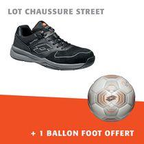 Lot chaussure street + 1 ballon foot offert gris/noir