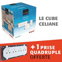 Le cube CELIANE avec prise quadruple offerte
