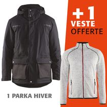 lot 1 parka hiver 4989 + 1 veste tricotée 4942 offerte