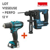 Lot visseuse + perfo 12 V