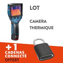 Lot caméra thermique gtc400c + cadenas connecté offert