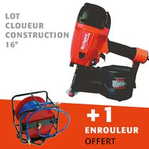 Lot cloueur construction 16° + enrouleur offert