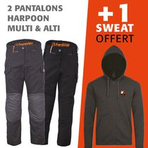 lot 1 pantalon harpoon multi + 1 harpoon alti = 1 sweat offert