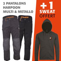 lot 1 pantalon harpoon multi + 1 harpoon metallo = 1 sweat offert