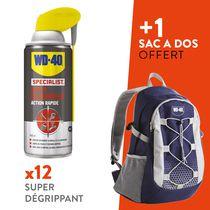 Lot 12 super dégrippants + 1 sac randonnée WD-40