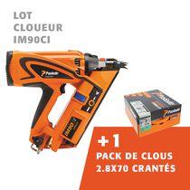 Lot cloueur IM90ci + 1 pack de clous 2,8x70 crantés