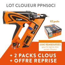 Lot cloueur PPN50CI + 2 packs clous + offre de reprise
