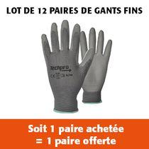 Lot de 12 paires de gants fin