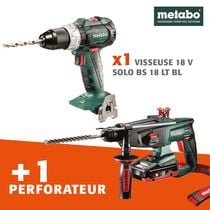 Lot visseuse + perfo 18 V METABO