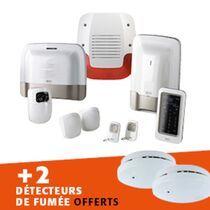 Lot pack alarme tyxal + vidéo + 2 détecteurs de fumée connectés offerts