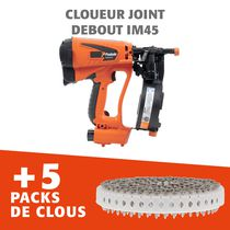 Cloueur joint debout IM 45 GN Li + 5 packs de clous