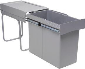 Poubelle coulissante monobac 30 litres sous vier pour meuble de 300 mm foussier quincaillerie - Poubelles coulissantes sous evier ...