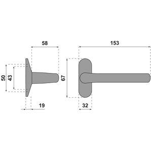 Garnitures pour porte aluminium