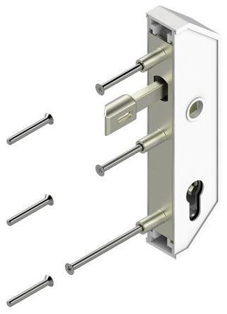 Serrure de portail métal ou PVC en retrait