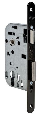 Serrure PIXELLE axe 50 mm, têtière acier noir
