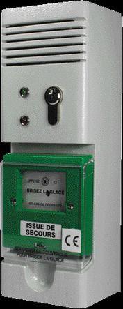 Boitier commande d'alarme locale à clé