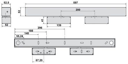 Boîtier de mise en applique pour verrou GRS 620