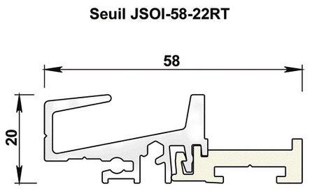 Profil de seuil aluminium JSOI20-58-22RT