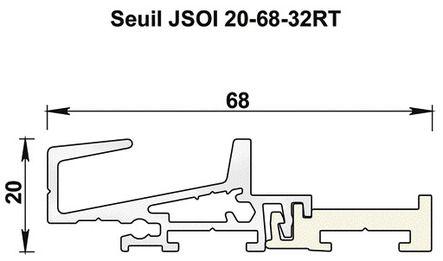 Profil de seuil aluminium JSOI20-68-32RT