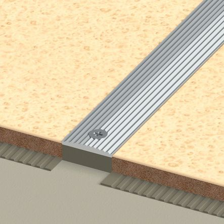 Profil à encastrer alu strié