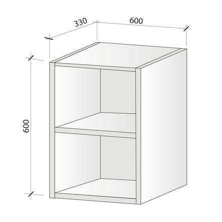 caisson haut micro onde hauteur 624 mm foussier. Black Bedroom Furniture Sets. Home Design Ideas