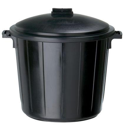 poubelle plastique 80 l avec couvercle foussier. Black Bedroom Furniture Sets. Home Design Ideas
