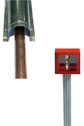 Goulotte de protection spéciale gaz