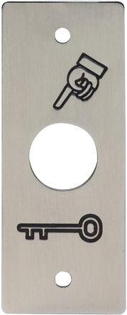 Plaque seule pour bouton poussoir