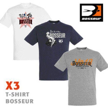 Lot 3 tee-shirts bosseur