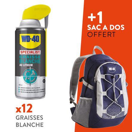Lot 12 graisses blanche au lithium + 1 sac de randonnée WD-40 offert