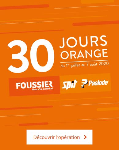 30 jours orange SPIT et Foussier